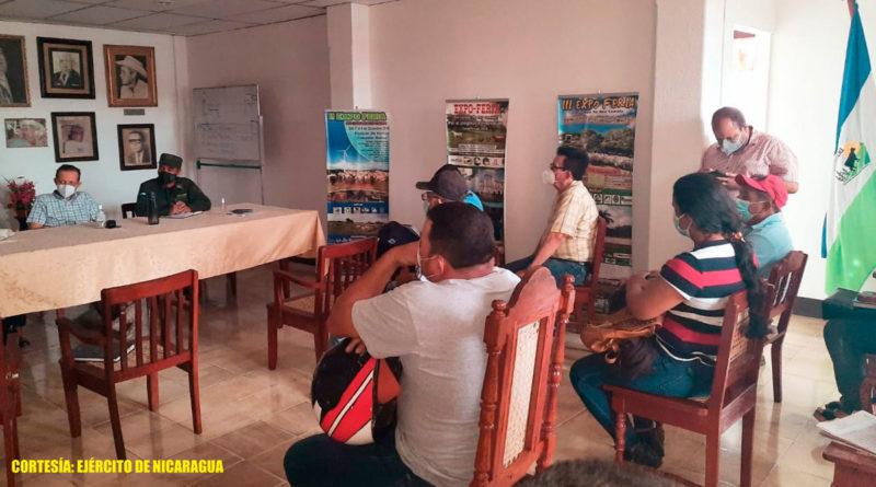 Ejército de Nicaragua participó en reunión con productores y ganaderos de Rivas