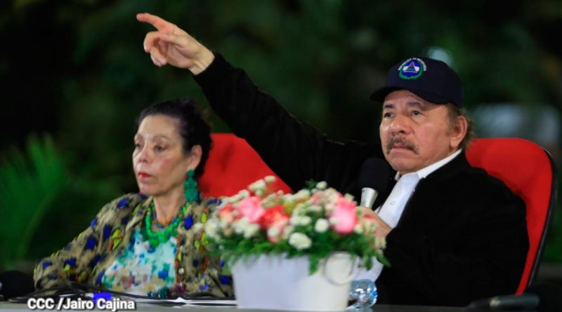 Comandante Daniel Ortega, Compañera Rosario Murillo en acto del 41 Aniversario de la Fuerza Naval del Ejército de Nicaragua