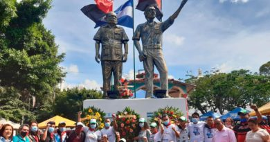Monumento del Comandante Tomás Borge Martínez en el parque Morazán de Matagalpa.