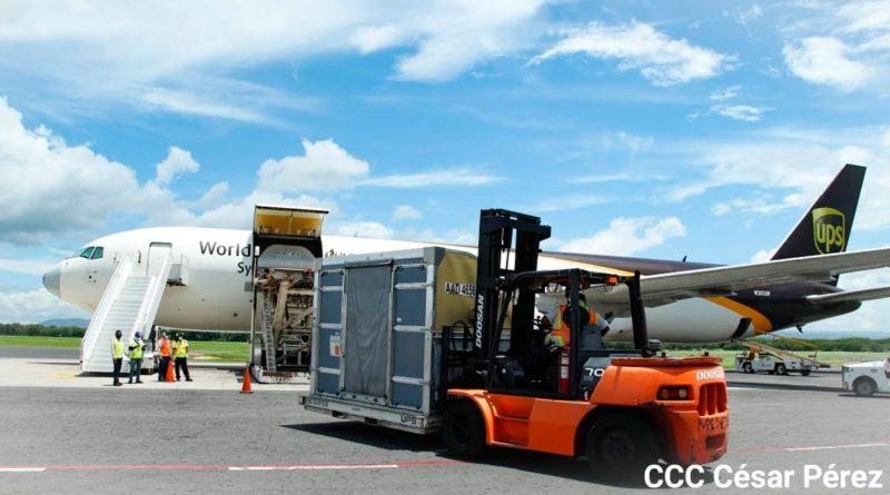 Llegada del cargamento de 97 mil 920 dosis de la vacuna AstraZeneca al Aeropuerto Internación de Managua, Nicaragua, Augusto C. Sandino