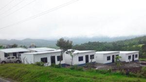 Viviendas entregadas a familias afectadas por la crecida del río Artiwa en Santo Domingo, Chontales