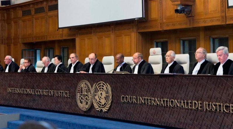 Corte Internacional de Justicia en la Haya.