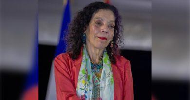 Vicepresidenta de Nicaragua, Rosario Murillo después del Acto en Conmemoración del 42 Aniversario del Ejército de Nicaragua