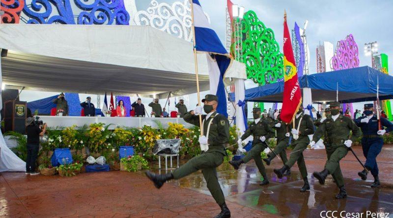 Acto Central en Conmemoración del 42 Aniversario de Fundación del Ejército de Nicaragua