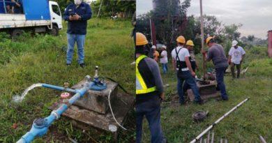 ENACAL rehabilita servicio de agua en comunidad Los Encuentros en Carazo