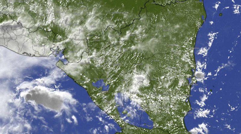 Imagen satelital que muestra el clima sobre Nicaragua