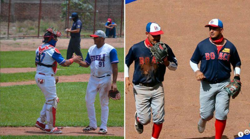 Jugadores de Estelí y Boaco en diferentes juego del Pomares 2021