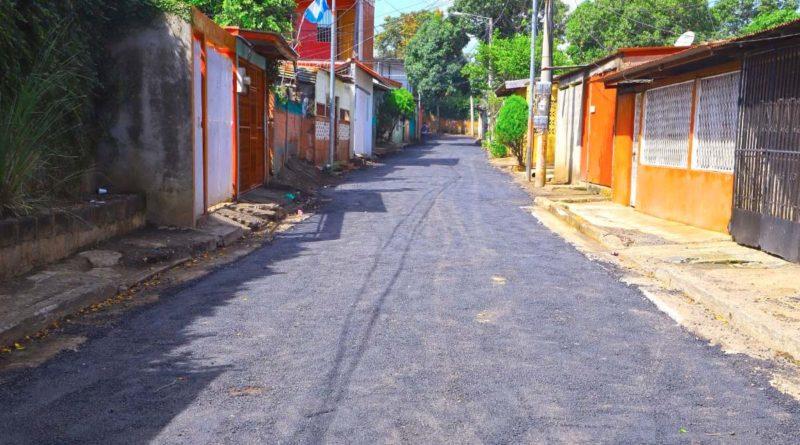 Proyecto de Calles para el Pueblo que se ejecuta en el barrio Santos López