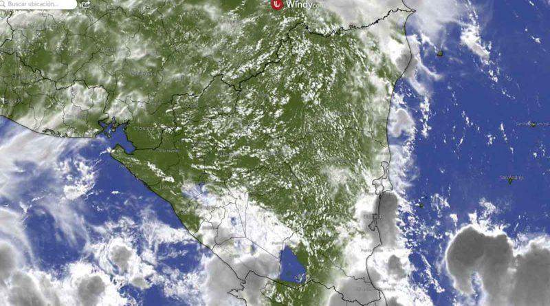 Imagen satelital del clima en Nicaragua