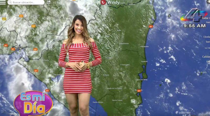 Crismara Mendoza en el programa Es Mi Día brindó el reporte del clima en Nicaragua