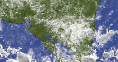 Imagen satelital sobre el clima en Nicaragua