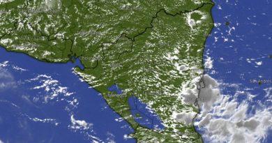 Imagen satelital del Clima en Nicaragua.
