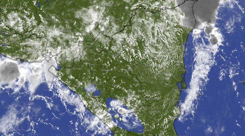 Vista satelital de Nicaragua