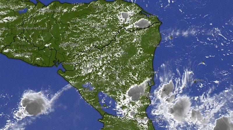 Imagen satelital del Clima de Nicaragua.