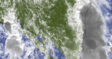 Vista satelital del clima sobre Nicaragua