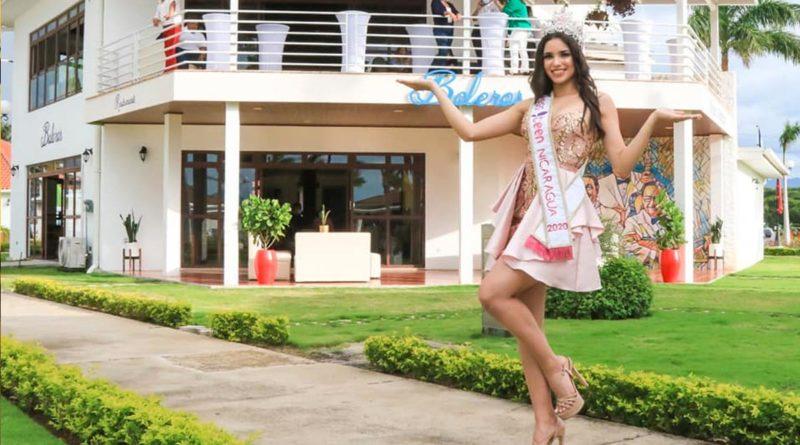 Gladys Molina, Miss Teen Nicaragua 2020 desde el Restaurante Boleros en el Puerto Salvador Allende.
