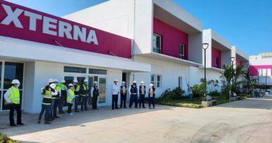 """Entrada de la Consulta Externa del nuevo Hospital Departamental """"Doctor Mauricio Abdallah"""" de Chinandega."""