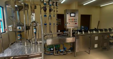 Equipos de laboratorio de medición instalados.