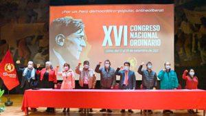 Nicaragua participa en el XVI congreso del Partido Comunista Peruano