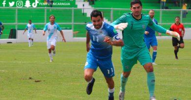 Juan Barrera en el partido amistoso Nicaragua contra Guatemala en Ciudad Antigua