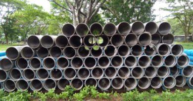 Tubería de acero ranurada, incorporadas por ENACAL a sus bodegas como parte del Programa Nacional de Perforación de Pozos 2021