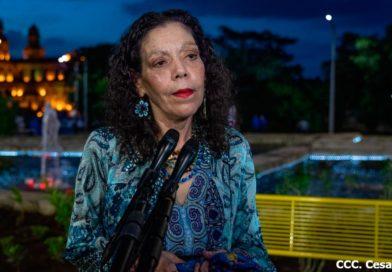 Compañera Rosario Murillo después del recibimiento de la Antorcha de la Libertad Centroamericana