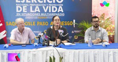 Autoridades del INETER y SINAPRED brindando conferencia sobre evento sísmico de este miércoles 22 de septiembre del 2021
