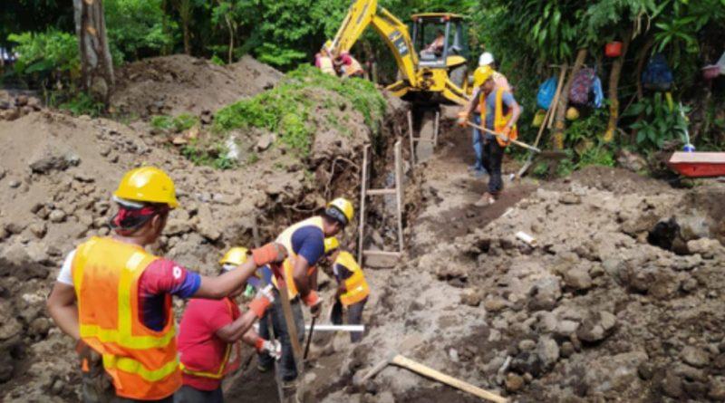 Obras de ENACAL en el municipio de Altagracia, Isla de Ometepe