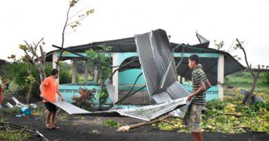 Fuertes vientos y lluvias provocan afectaciones en tres departamentos de Nicaragua