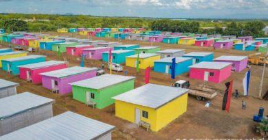 Parte de las viviendas entregadas este sábado por la Alcaldía de Managua en Villa Jerusalén