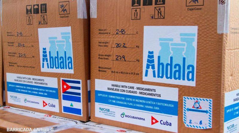 Llegada de vacunas cubanas contra el COVID-19 al Aeropuerto Internacional Augusto C. Sandino de Managua.