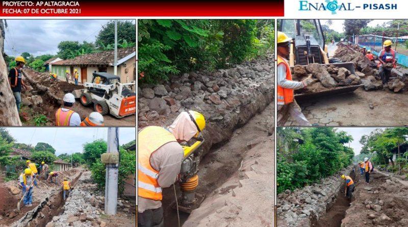 Instalación de tuberías y rehabilitación de calles en Altagracia, Isla de Ometepe