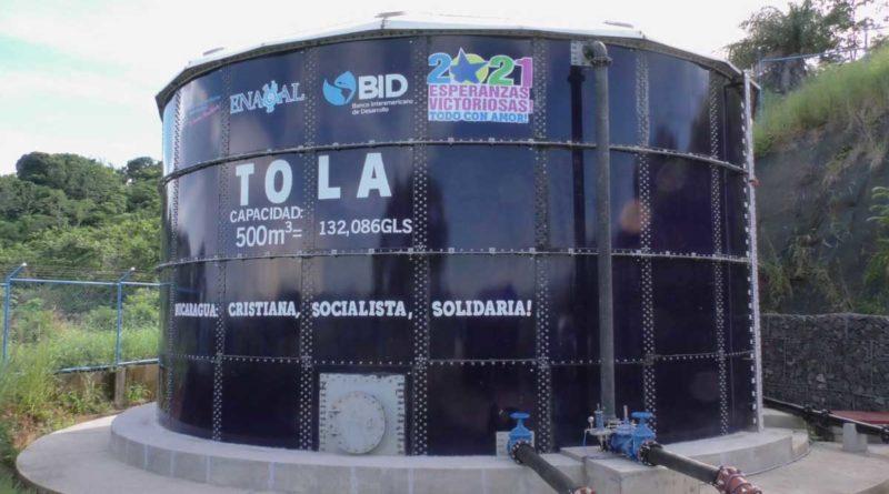 Uno de los nuevos tanques rehabilitados por ENACAL en Tola