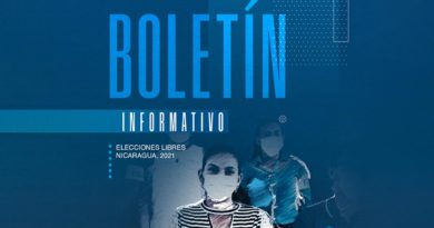 Edición #22 del Boletín Informativo Elecciones Libres Nicaragua, 2021
