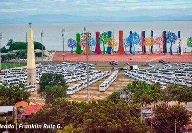 250 nuevos buses entregados a 35 cooperativas en Managua.