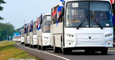 Llegada de 150 nuevos buses rusos para modernizar el transporte público de Nicaragua
