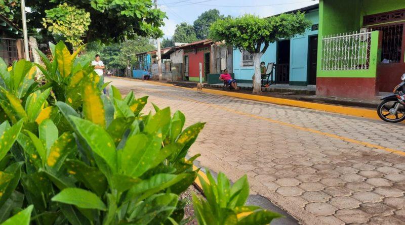 Alcaldía de El Viejo inaugura calles para el pueblo en el barrio Narciso Salazar