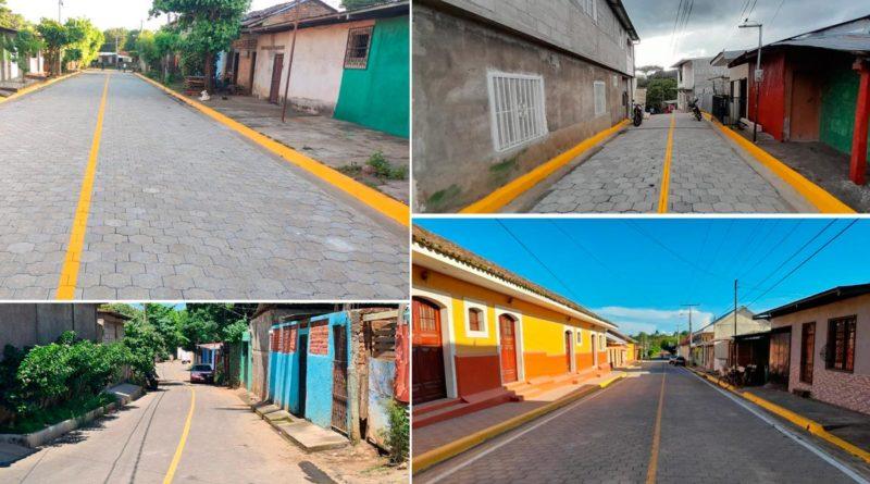 Nuevas calles construidas por los Gobiernos Sandinistas en 23 municipios del país