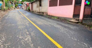 Calles renovadas en el barrio Pantasma de Managua