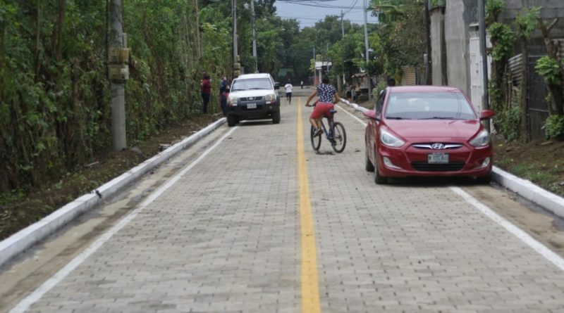 Gobierno Sandinista inaugura Calles para el Pueblo en Nindirí