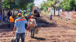 ALMA continúa ejecutando obras del Programa Calles para el Pueblo en el barrio Carlos Núñez