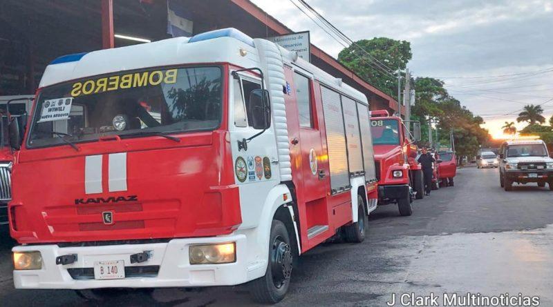 Camiones de bomberos para la nueva estación de bomberos de Wiwilí en Nueva Segovia
