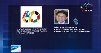 Canciller Denis Moncada vía telefónica en la Revista en Vivo, martes 12 de octubre de 2021