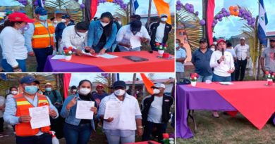 Firma del contrato para inicio de obras del nuevo puesto de salud en Wawabar, Puerto Cabezas