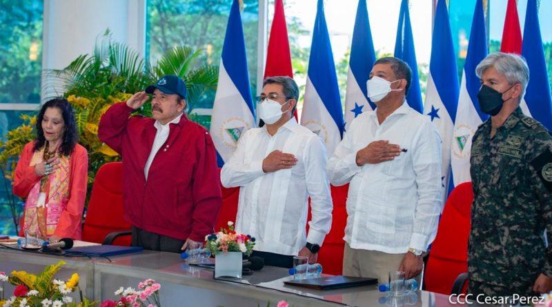 Encuentro del Comandante Daniel Ortega y la Compañera Rosario Murillo con el Presidente de Honduras, Juan Orlando Hernández