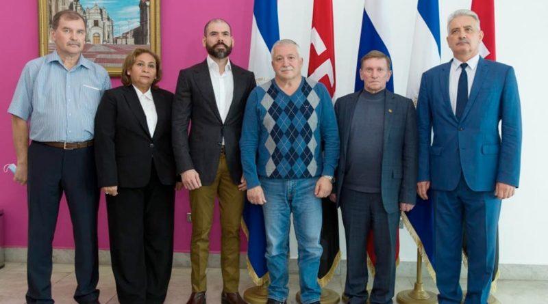 Delegación espacial de la Federación de Rusia que visita Nicaragua