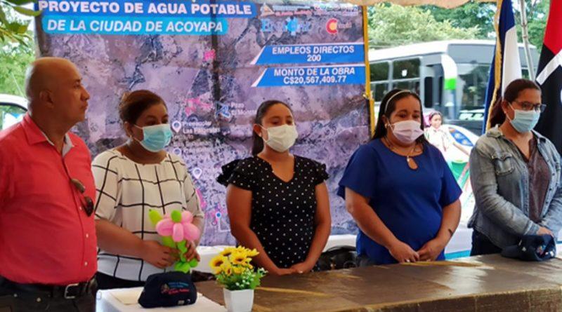 ENACAL inaugura ampliación del sistema de agua potable en Acoyapa, Chontales