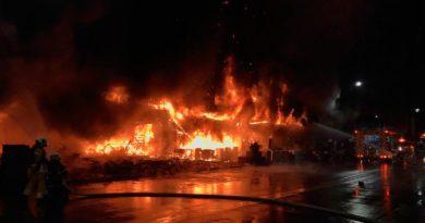 Incendio en edificio residencial en el Distrito Yancheng de la Ciudad de Kaohsiung en Taiwán.