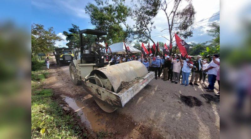 Gobierno Sandinista inicia construcción de Carretera Cuapa -La Libertad