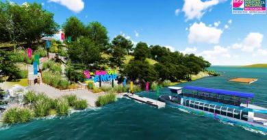 Imagen de la maqueta de la Isla del Amor en el Lago Xolotlán